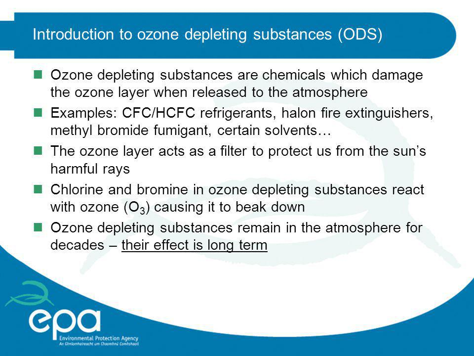 Introduction to ozone depleting substances (ODS)