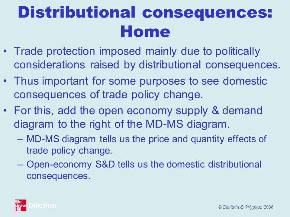 Distributional consequences: Home