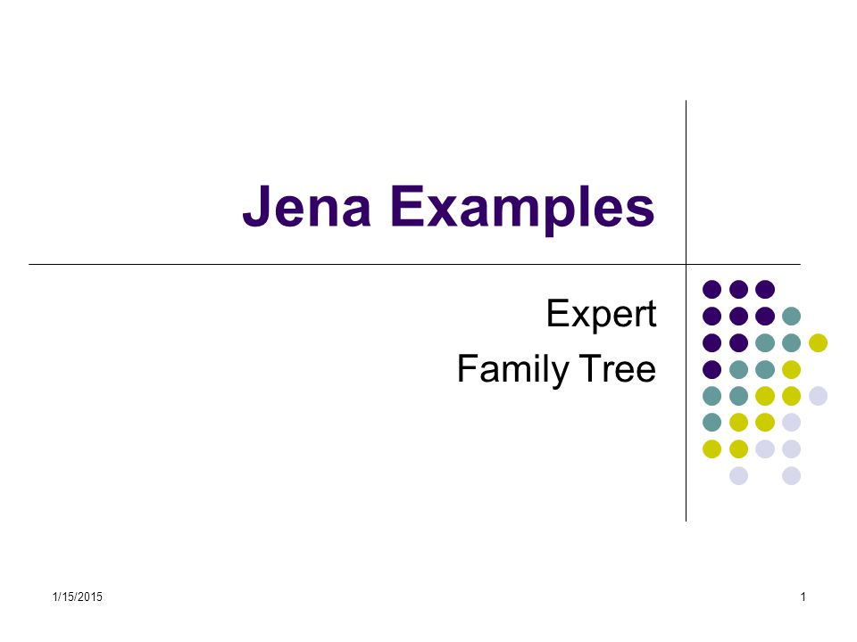Jena Examples Expert Family Tree 4/8/2017