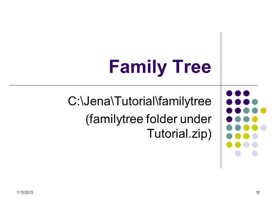 C:\Jena\Tutorial\familytree (familytree folder under Tutorial.zip)