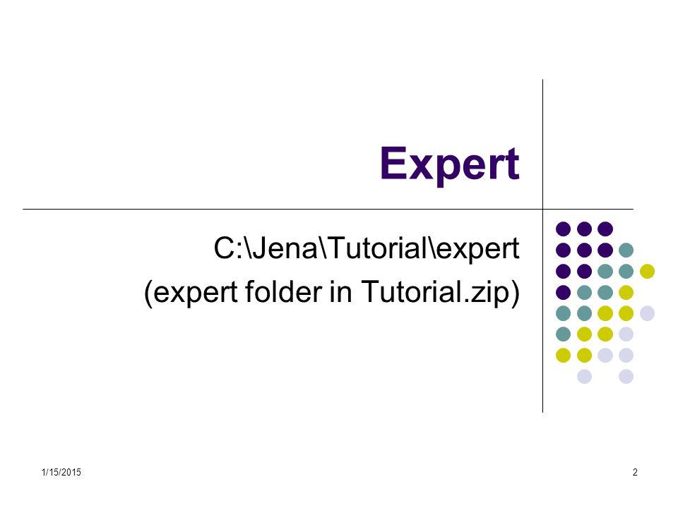 C:\Jena\Tutorial\expert (expert folder in Tutorial.zip)