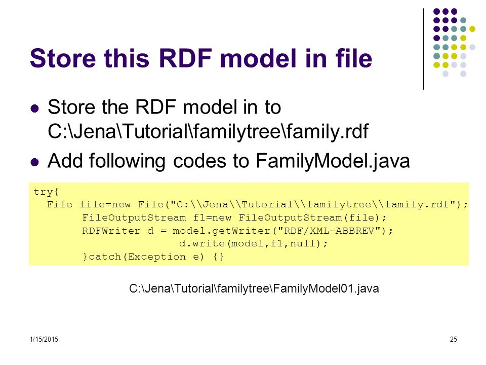 Store this RDF model in file