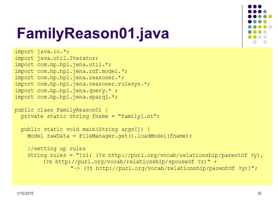 FamilyReason01.java import java.io.*; import java.util.Iterator;