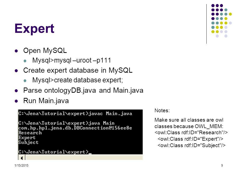 Expert Open MySQL Create expert database in MySQL