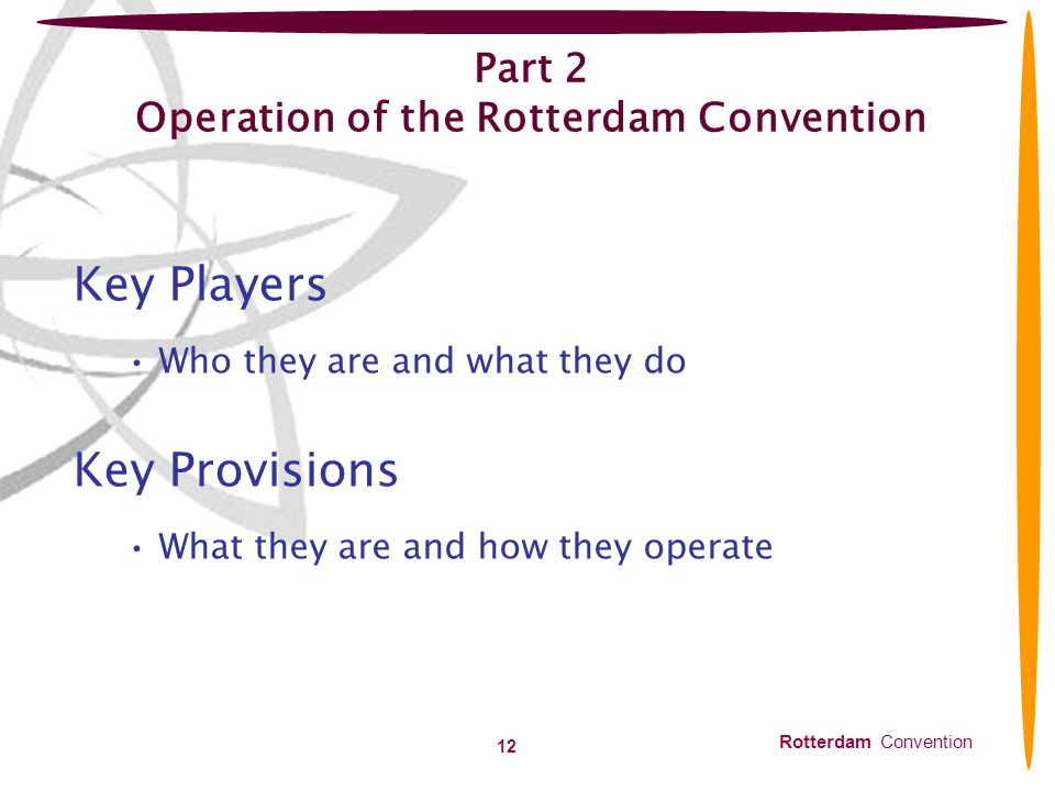Part 2 Operation of the Rotterdam Convention