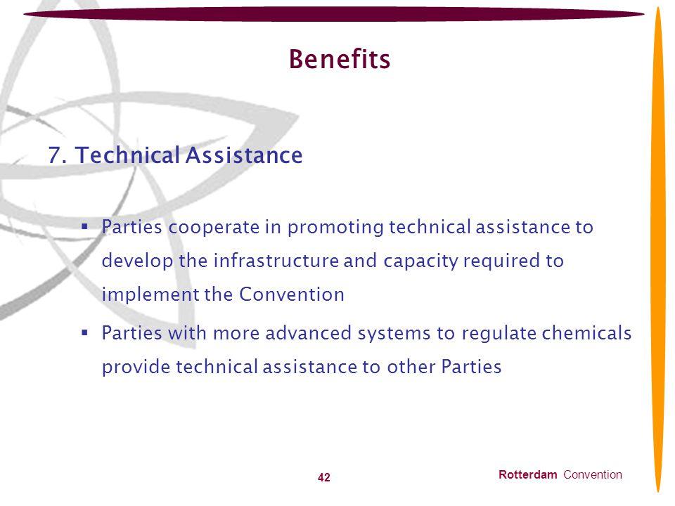 Benefits 7. Technical Assistance