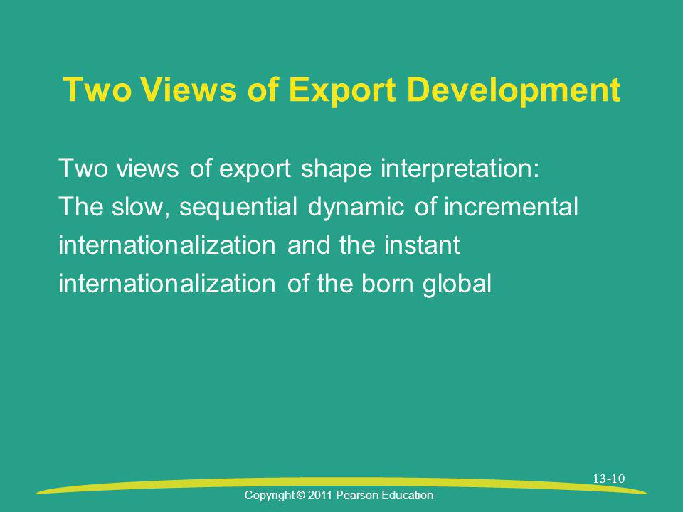 Two Views of Export Development