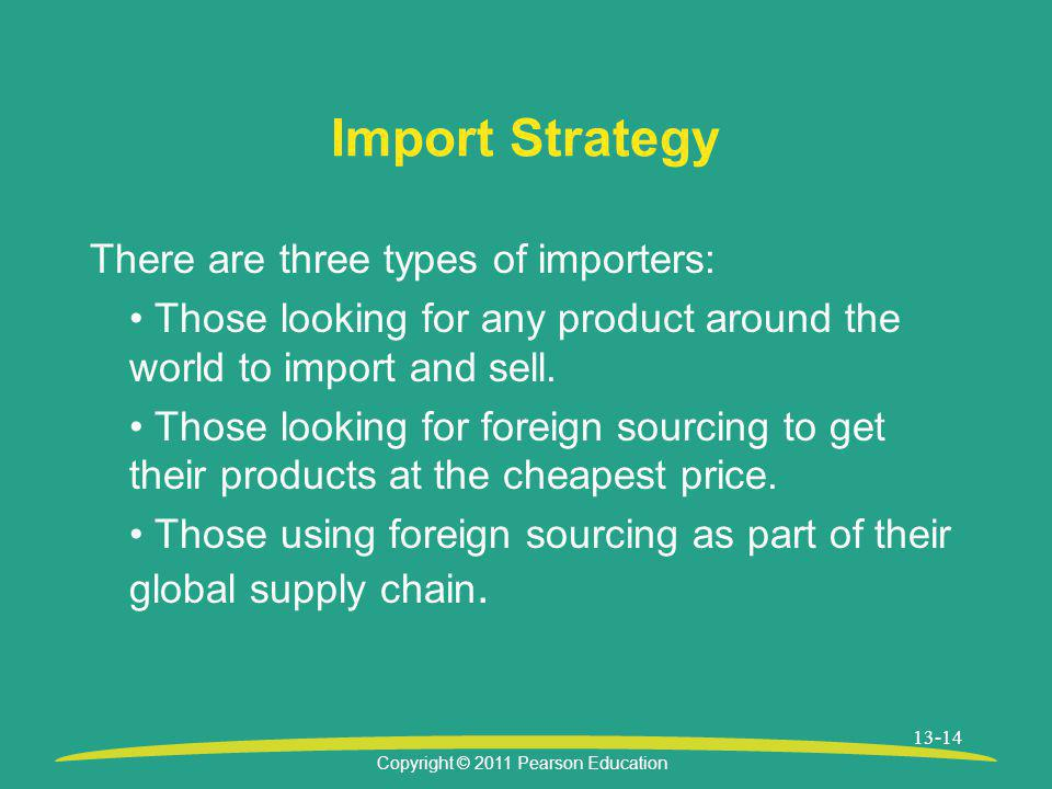 Import Strategy There are three types of importers: