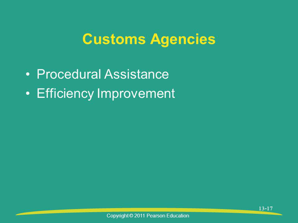 Customs Agencies Procedural Assistance Efficiency Improvement