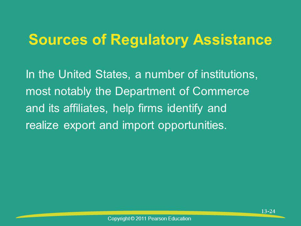 Sources of Regulatory Assistance