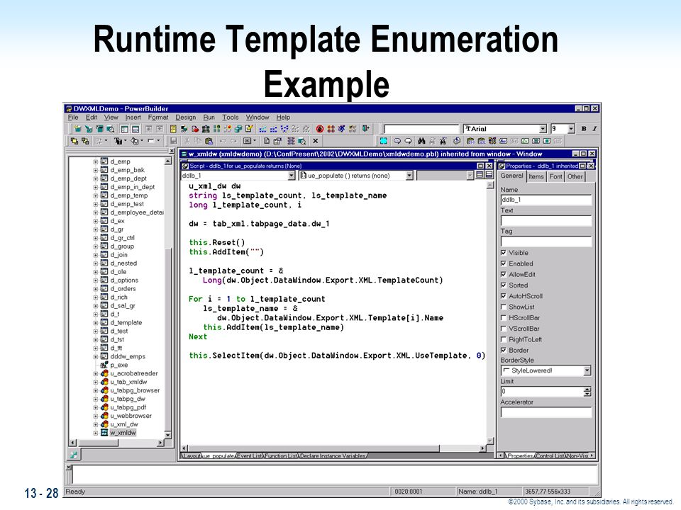 Runtime Template Enumeration Example