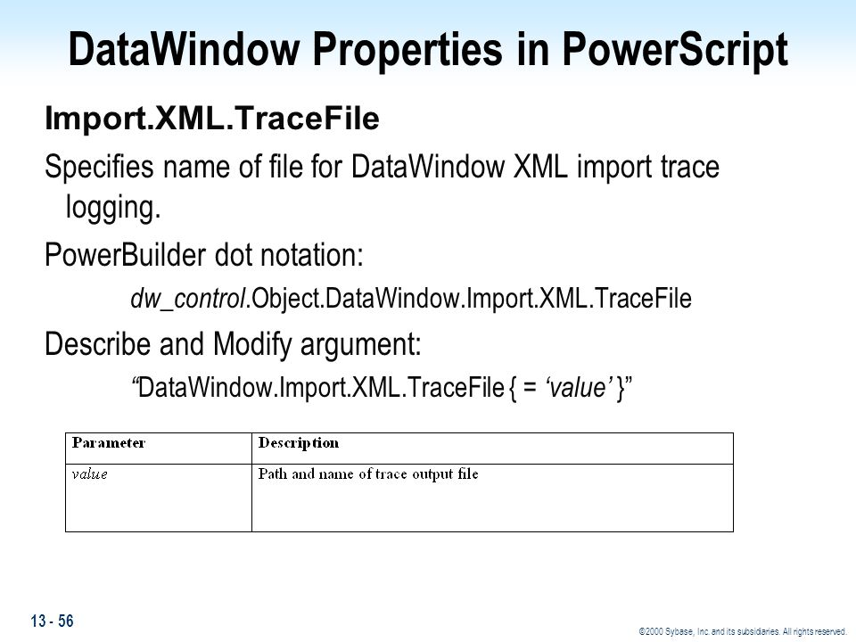 DataWindow Properties in PowerScript