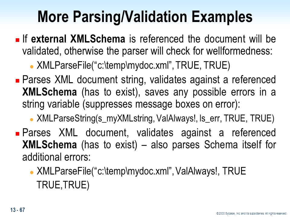 More Parsing/Validation Examples