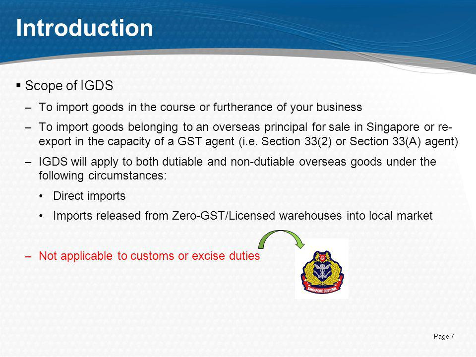 Introduction Scope of IGDS
