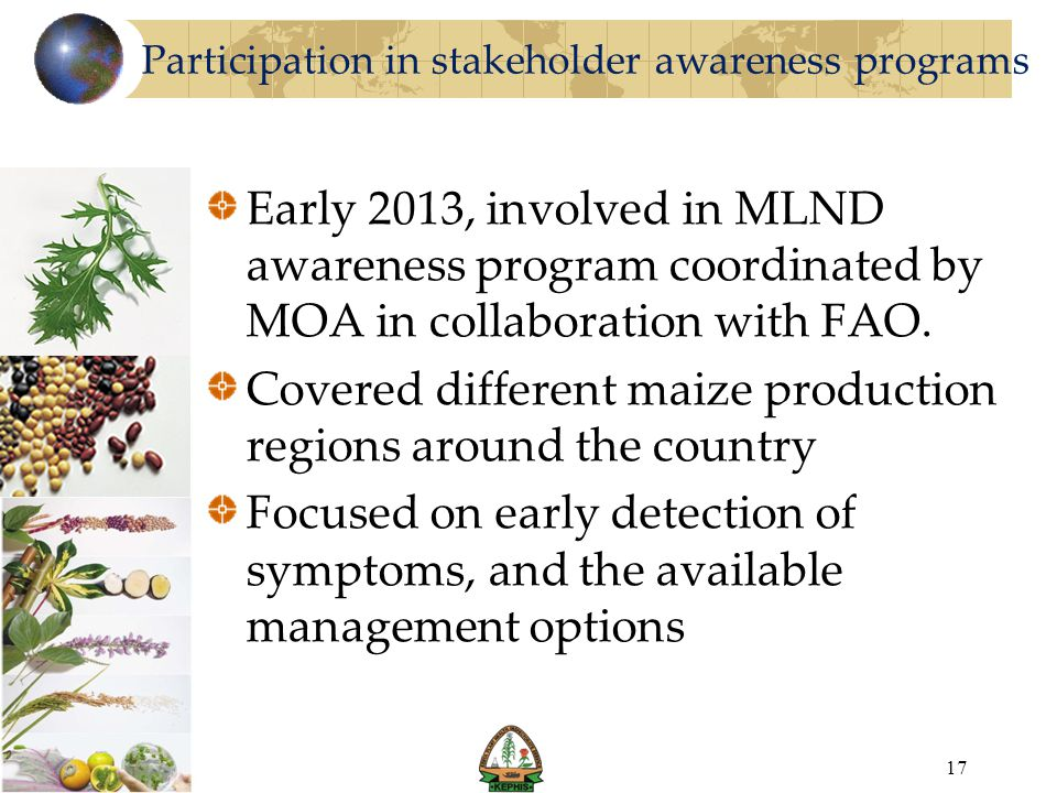 Participation in stakeholder awareness programs