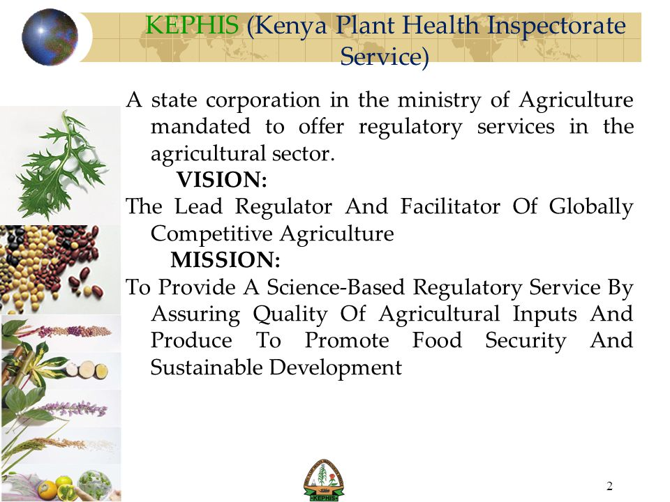 KEPHIS (Kenya Plant Health Inspectorate Service)