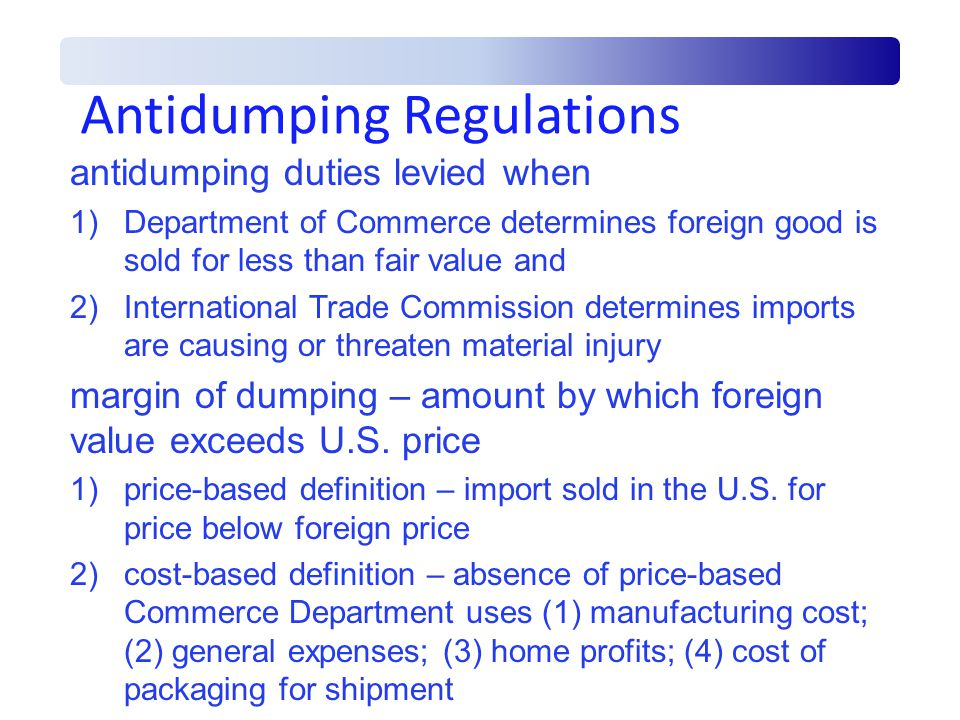 Antidumping Regulations