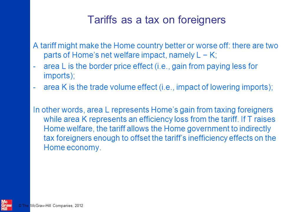 Tariffs as a tax on foreigners