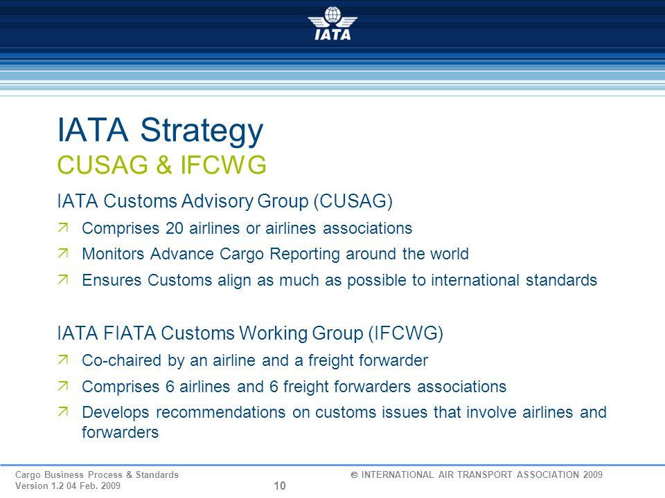 IATA Strategy CUSAG & IFCWG