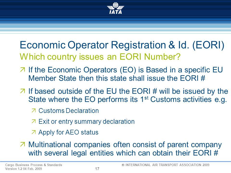Economic Operator Registration & Id
