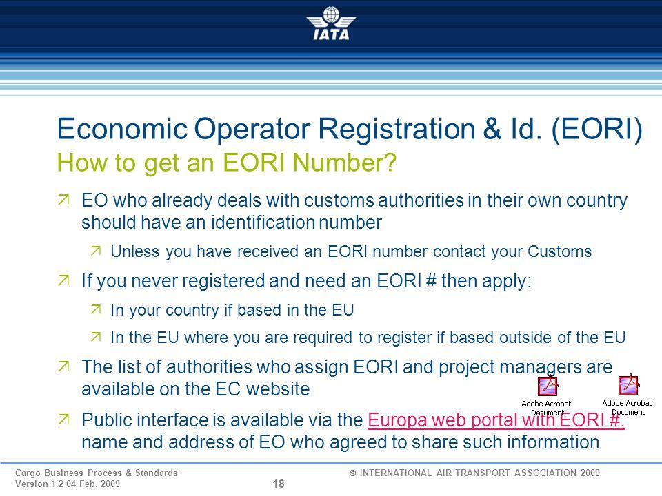 Economic Operator Registration & Id. (EORI) How to get an EORI Number