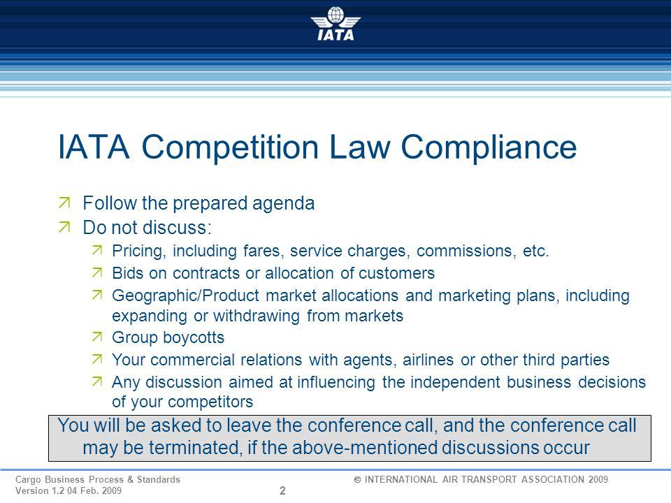 IATA Competition Law Compliance