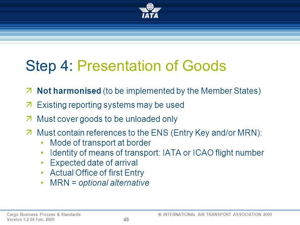 Step 4: Presentation of Goods