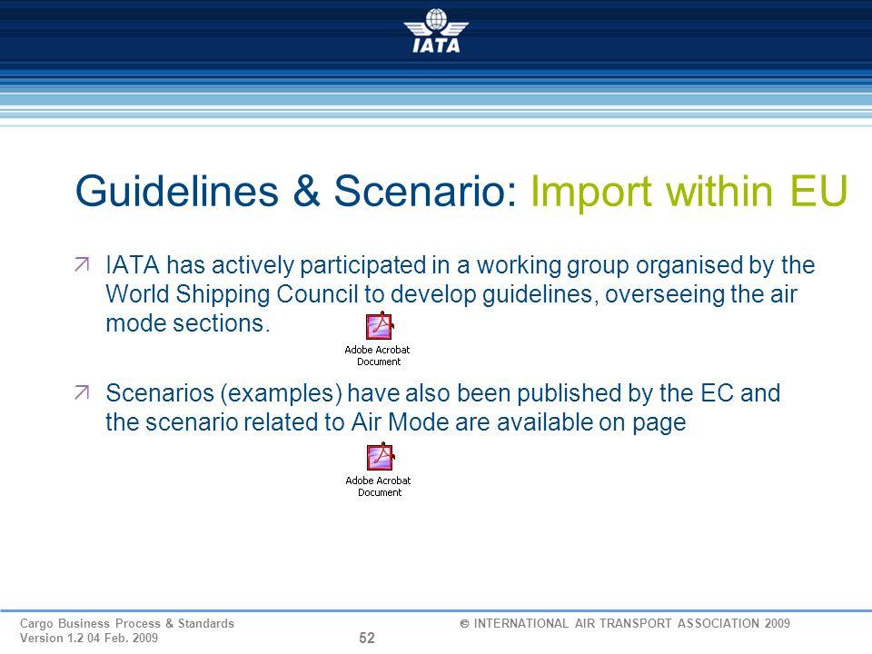 Guidelines & Scenario: Import within EU