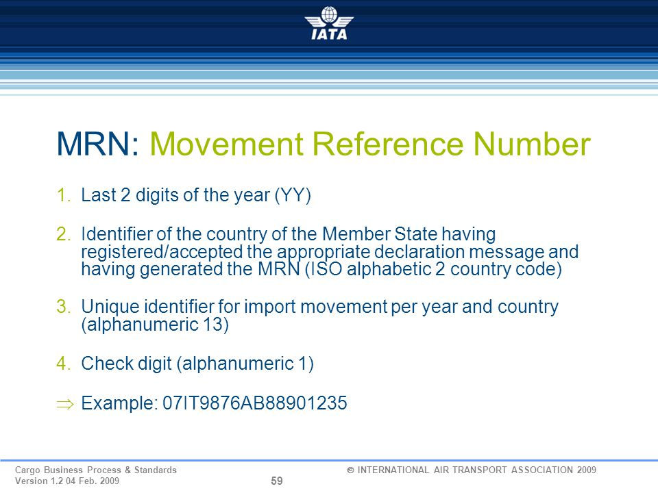 MRN: Movement Reference Number