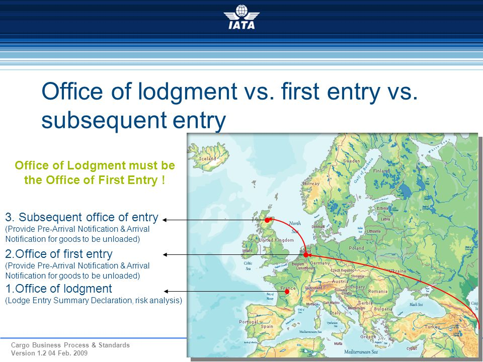 Office of lodgment vs. first entry vs. subsequent entry
