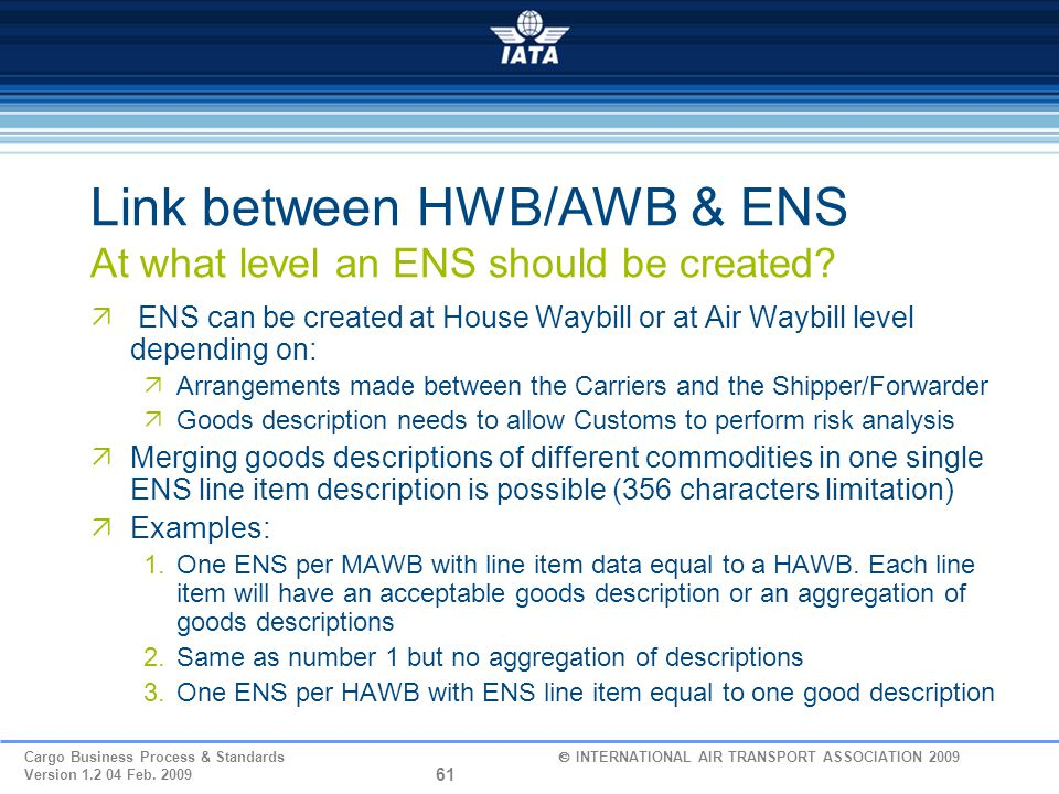 Link between HWB/AWB & ENS At what level an ENS should be created