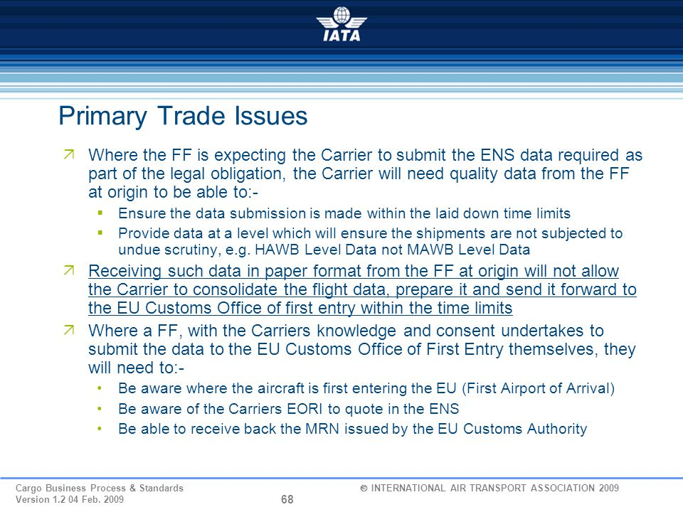 Primary Trade Issues