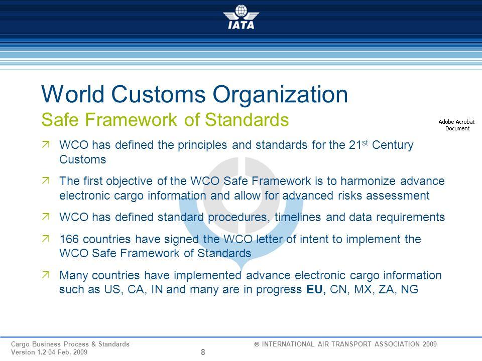 World Customs Organization Safe Framework of Standards
