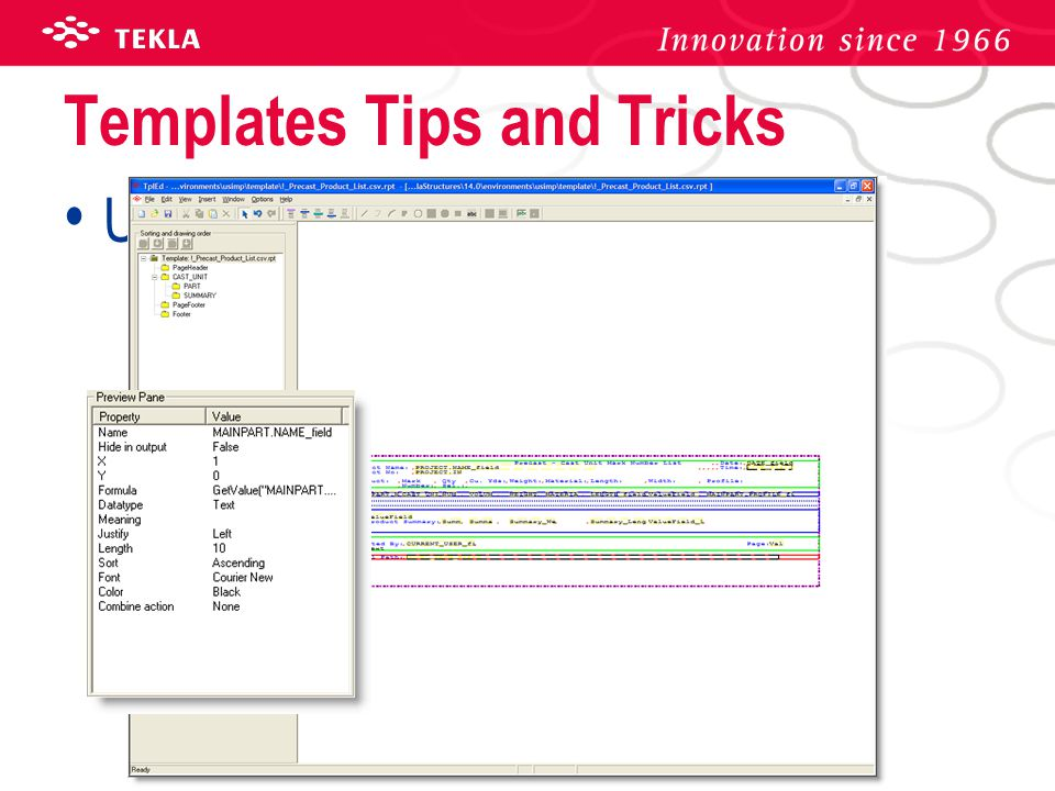 Templates Tips and Tricks