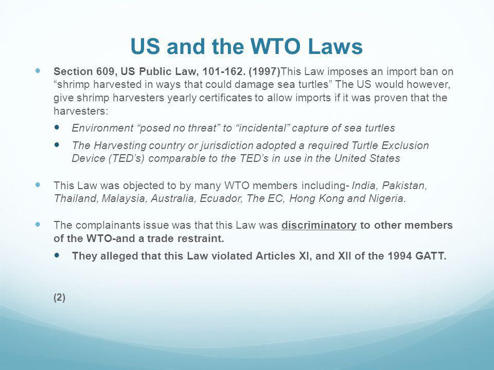 US and the WTO Laws