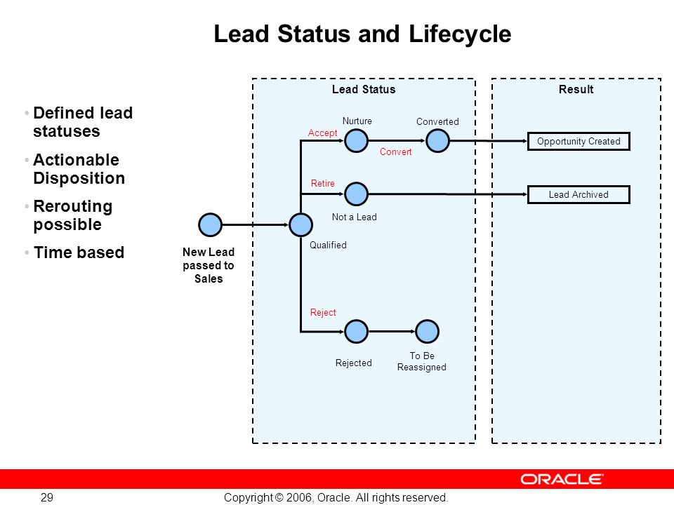 Lead Status and Lifecycle