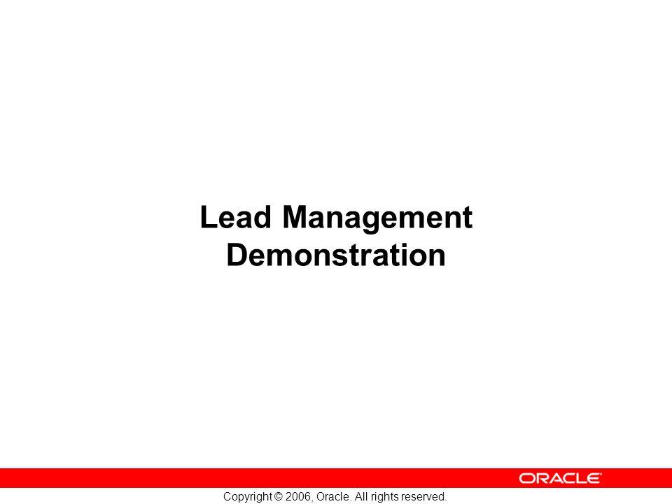 Lead Management Demonstration