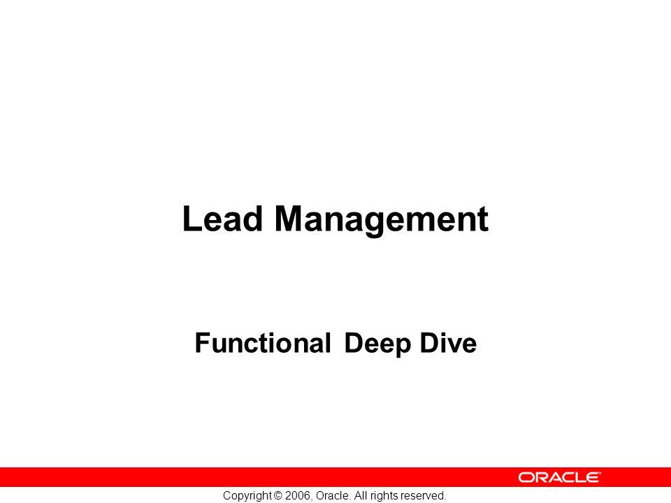 Lead Management Functional Deep Dive