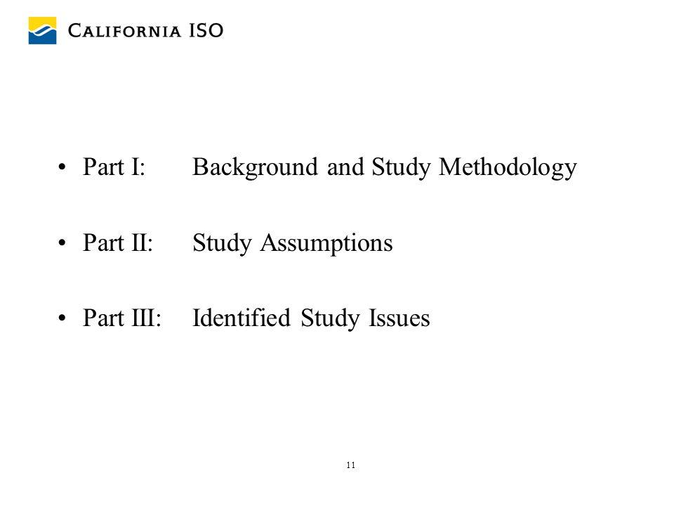 Part I: Background and Study Methodology