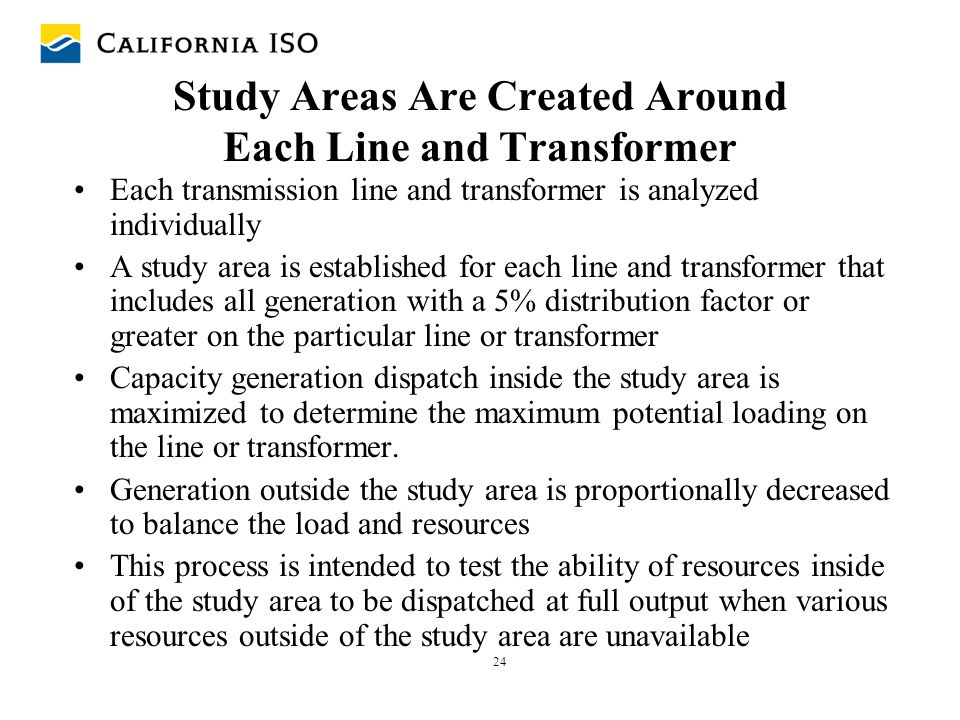 Study Areas Are Created Around Each Line and Transformer