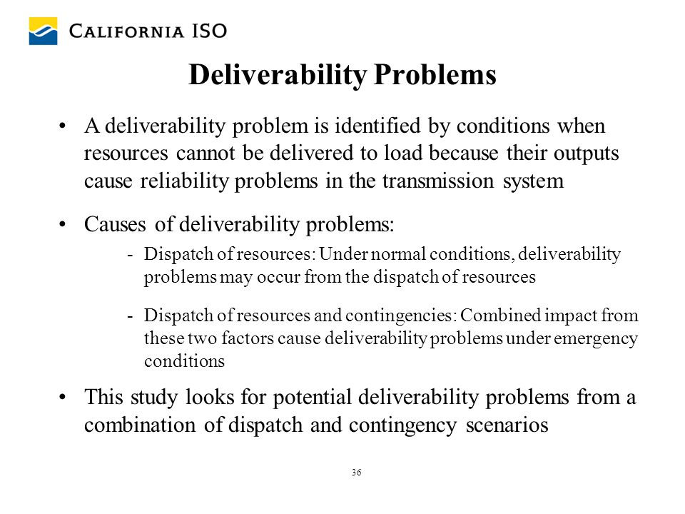 Deliverability Problems