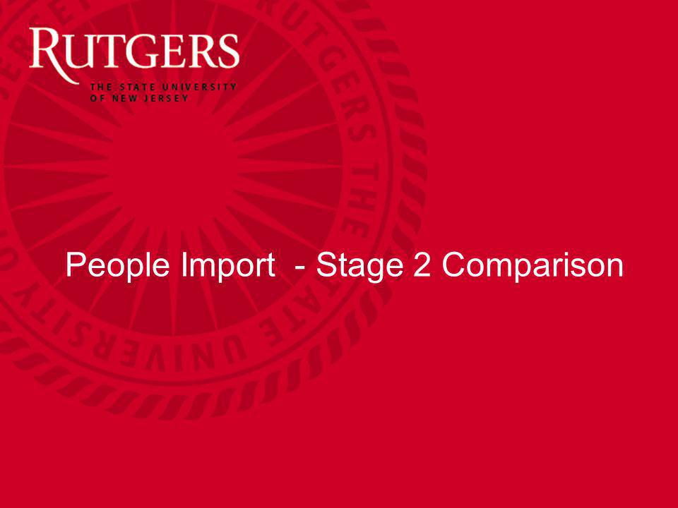 People Import - Stage 2 Comparison