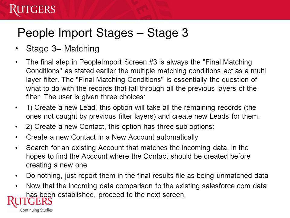 People Import Stages – Stage 3
