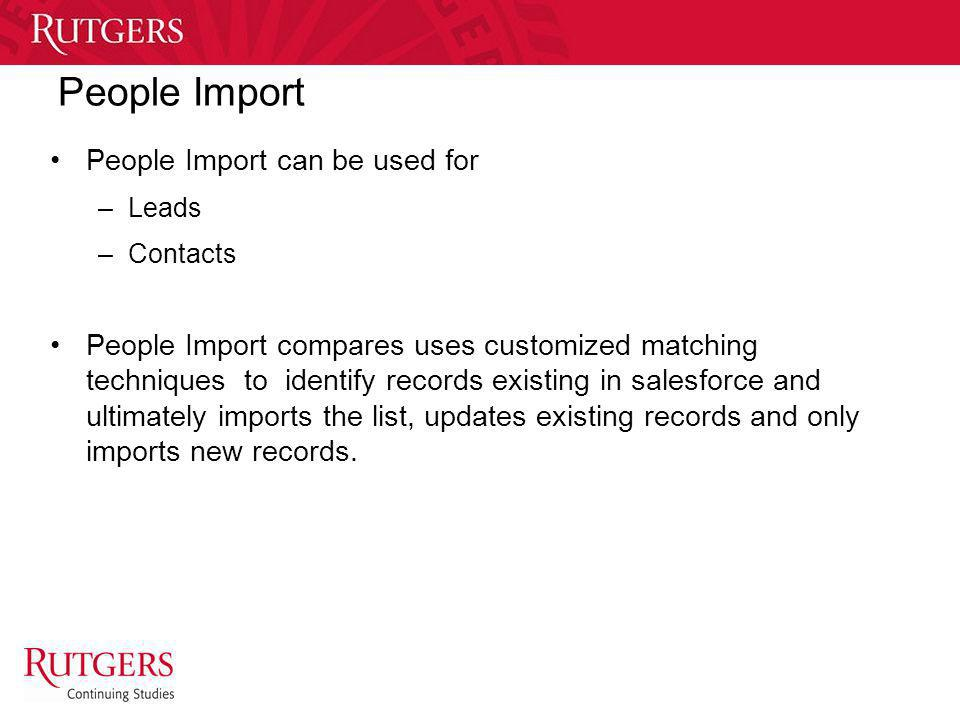 People Import People Import can be used for