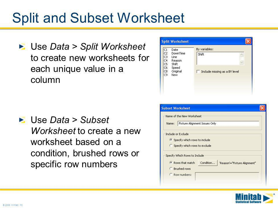 Split and Subset Worksheet