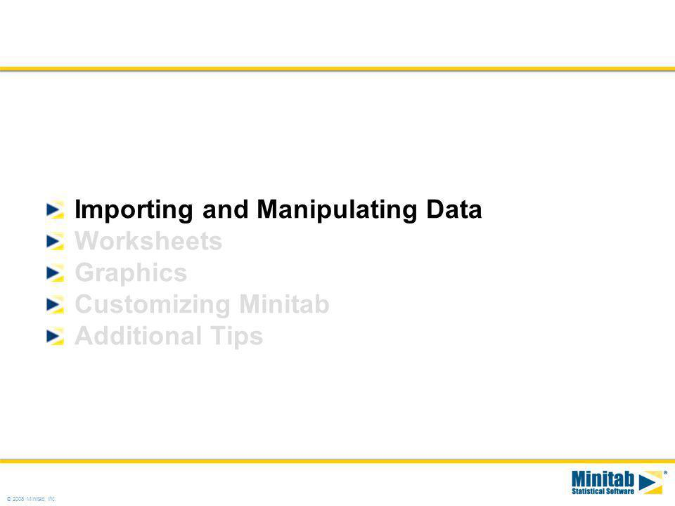 Importing and Manipulating Data