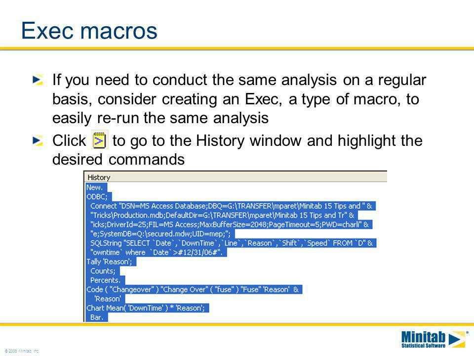 Exec macros