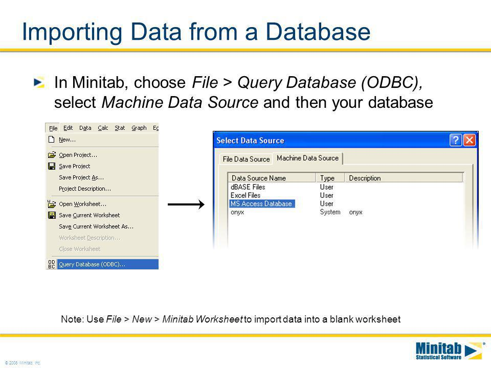 Importing Data from a Database