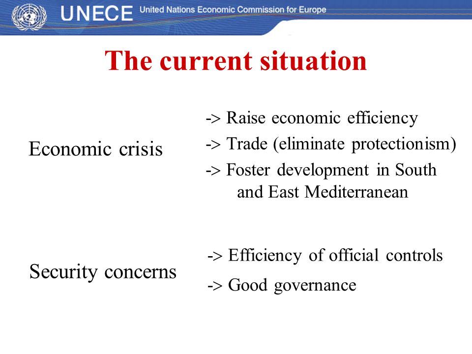 The current situation Economic crisis Security concerns