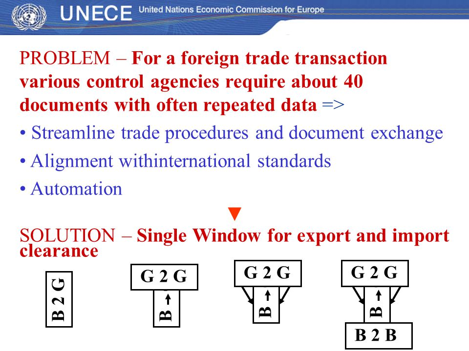 Streamline trade procedures and document exchange